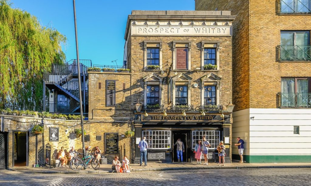 英国古老酒吧 英国酒吧 The Prospect of Whitby, Wapping, London