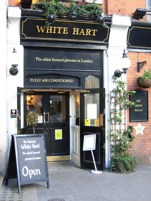 英国古老酒吧 英国酒吧 White Hart Inn, Drury Lane, London